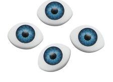10 x 14.5 mm BLUE Doll Making Craft Oval  Eyes Acrylic Doll Eyeballs 12pcs  BNIP