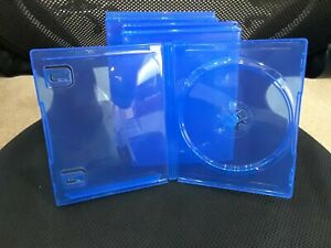 (5) FIVE PS4 OFFICIAL OEM Translucent BLUE Replacement Empty Game Cases NEW!