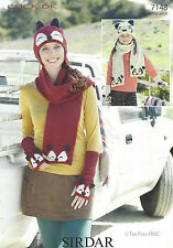 VAT Free Knitting PATTERN ONLY To Make Fox Scarf Hat Arm Warmers New 7148