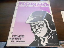 1985-1988 Honda CH250 Elite 250 Factory Service Shop Repair Manual