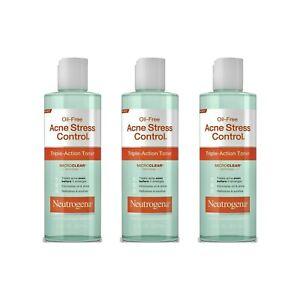 Neutrogena Oil-Free Acne Stress Control Toner 8 oz. EACH (Pack of 3) EXP 09/2020
