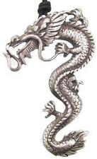 Huge Bearded Dragon Pewter Pendant Necklace