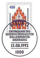 BRD 1992: Neues Tor Neubrandenburg Nr. 1623 mit dem Berliner Ersttagsstempel 1A!