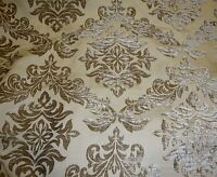 "chenille  upholstery Archive color Damask drapery fabric by the yard 56"" WIDE"