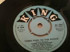 "LARRY CUNNINGHAM - THREE STEPS TO THE PHONE 7"" RECORD"
