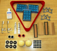 Lot of Pool Billiard Items 3 Dozen  Blue Chalk, Crazy and Regular Cue Ball,+MORE