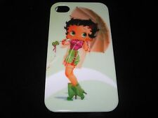 Betty Boop Cover Case for the iPhone 4  4s  Betty Boop Umbrella Green Case