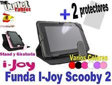 """FUNDA TABLET i-JOY SCOOBY 2 7"""" EDUCATIVA UNIVERSAL GIRATORIA  + 2 Protectores"""