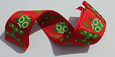 RIBBON with HO HO HO, 1 Mtr, Gifts/Cards/Bows/Party/Christmas