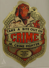 MCGRUFF JR THE CRIME FIGHTER BADGE STICKER NEW