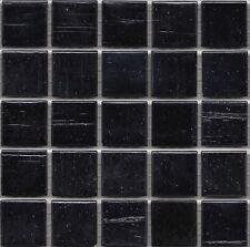 25pcs Bisazza Gloss Pearl GL 13 Mica Black Glass Mosaic Tiles 20mm x 20mm x 4mm