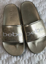 flip flops for women size 9 gold Bebe