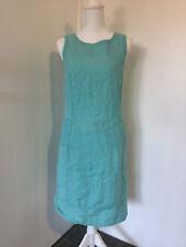 Sportscraft Aqua cotton shift dress NWOT size 8 (lc3)