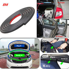Universal 26ft D Pad Car Door Window Strip Trim Rubber Weather Strip Seal 3M Mat