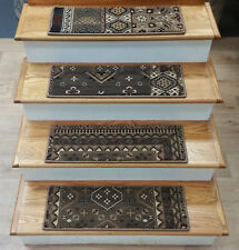 "Rug Depot 13 Southwestern Non Slip Carpet Stair Treads 26"" x 9"" - Brown - Poly"