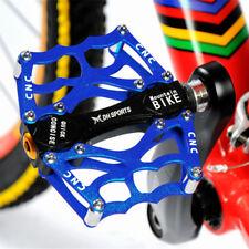 2x MTB BMX Fahrrad Pedale Stahlachse Aluminium Rutsch Platform Bearing 9/16''