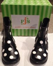 Puddle Jumpers Boots NEW With Box Size 6 Toddler Black And White Polka Dots