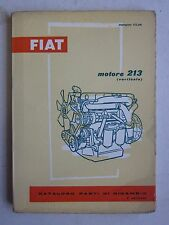 1961 FIAT motore 213 Verticale catalogo parti di ricambio C 40/50 N-645-650 N E
