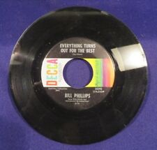 BILL PHILLIPS Talked About You Too/Turns Out For The Best 45 Record SIGNED