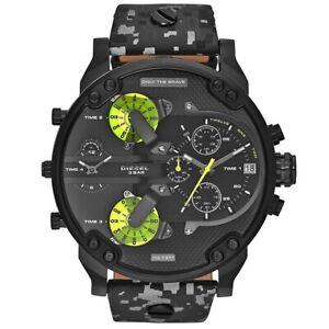 Diesel DZ7311 Herren-Armbanduhr XL Chronograph Quarz Leder