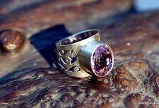 Fingerring Ring Art Deko 925er Silber Amethyst Designerstück Unikat