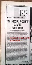 PETER HAMMILL Margin review 1985 UK ARTICLE / clipping (Van Der Graaf Generator)