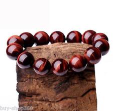 Natural AAA+++ 8mm Red Tiger's eye beads Gemstone Bracelet Bangle 7.5''