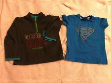 Boys 2 piece fleece top & t shirt age 2/3 years Superman