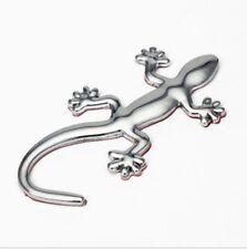 Gecko Lizard 3D Emblem Chrome Metal automotive car accessory bling