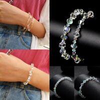 New FashionCrystal Rhinestone Bracelet Bangle Wedding Bridal Wristband Jewelry