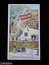 """CHOCOLAT SUCHARD n°4 Série 264 """"Habit. Souterraine Bord de LOIRE"""" Chromo/Découpi"""