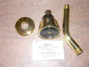 Mixet 5653 Shower Head, Arm, and Flange Brass Finish 2.5 GPM