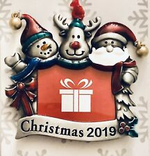 Christmas Tree Ornament ~ 2019 Photo Picture Frame ~ Santa Claus & Friends