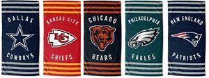 30 x 60 Striped beach towel - NFL - Pick Your Team