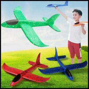 Hand Launch Throwing Glider Aircraft Foam Airplane Plane Model Outdoor Ped Toy