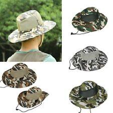 Men Bucket Hat Boonie Hunting Fishing Outdoor Wide Brim Safari Camo Sun Cap