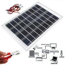 10W 4M Cable 18V Cell Solar Power Panel Module Car Camping Battery Charger US