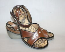 Fly London Brown Leather Strappy Wedges Sandals UK 5 EU 38 VGC