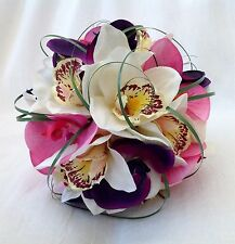 WEDDING FLOWER PACKAGE POSY BOUQUET, BUTTONHOLES, HAIR CLIPS, ARTIFICIAL FLOWERS