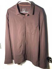 Arc'teryx Men's Skyline Long Sleeve Snap Button Shirt Lightweight Xl Purple