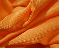 Crinkle Satin, 50% Baumwolle,30% Seide,20% Viskose, 125 cm breit, orange