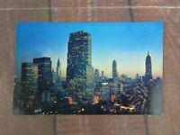 Midtown Manhattan New York Plastichrome RCA Chrysler & Empire State Buildings
