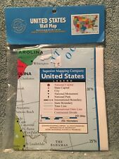 United Stated Wall Map 40in X 28in Made In Usa
