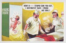 POSTCARD - saucy seaside comic, doctor nurse patient prick boil, Bamforth #395