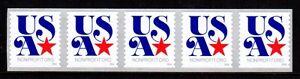 #5061 2016 USA Nonprofit-Org  Strip/5 -  MNH