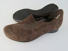 MEPHISTO Brown Suede Leather Slip On Caoutchouc Loafers Shoes Women's US Size 6