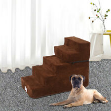 High Density Foam 5Tier Foldable Pet Dog Stairs/Pet Ramp Ladder With Soft Step