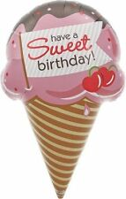 "NEW Sweet Birthday Ice Cream Cone Helium Foil Balloon - 37"" Northstar Party"