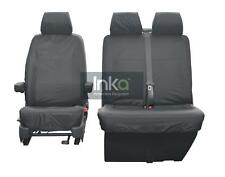 VW Transporter T6 Front 1 + 2 Inka Tailored Waterproof Seat Covers Grey