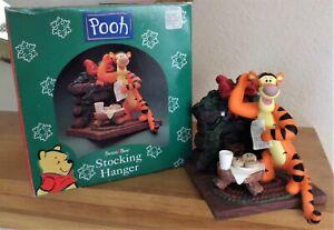 "1998 Xmas Stocking Hanger - Disney Winnie the Pooh ""TIGGER"" Cookies for Santa"